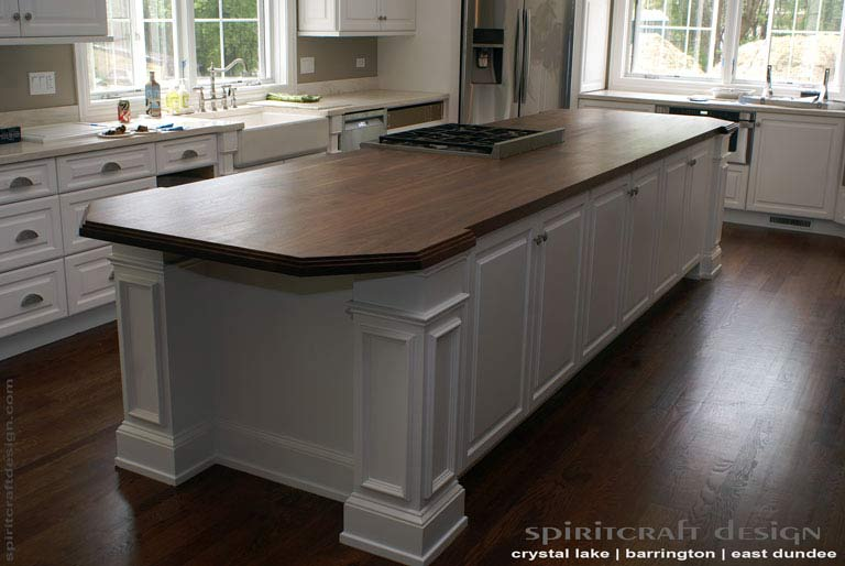 custom walnut slab kitchen island top by spiritcraft white kitchen island cart granite top home design ideas