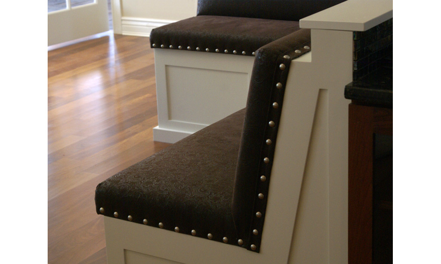 Custom Banquettes, Upholstered Seating and Custom Cushions
