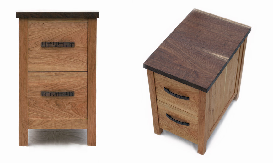 ... Chardon Hardwood Office Furniture | Solid Cherry And Walnut ...