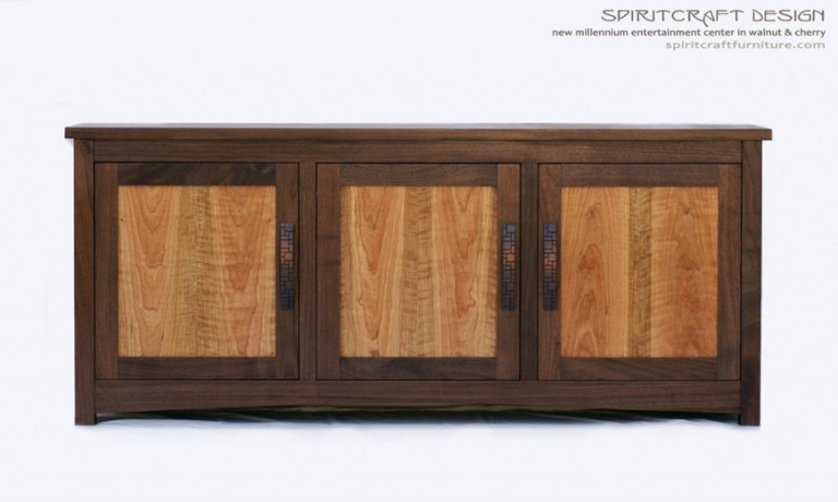 New Millennium Entertainment Center | Hardwood Walnut Furniture