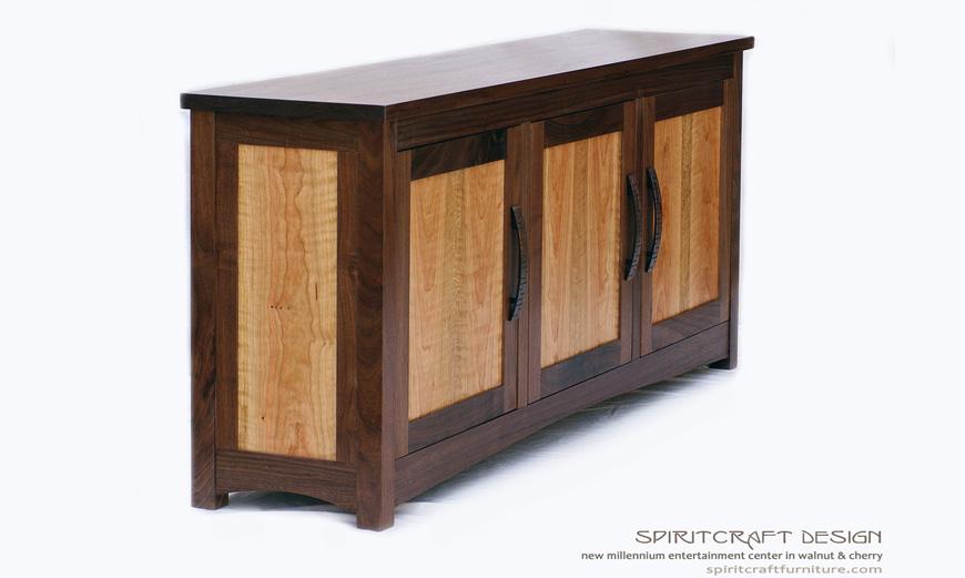 New Millennium Entertainment Center | Hardwood Walnut Furniture