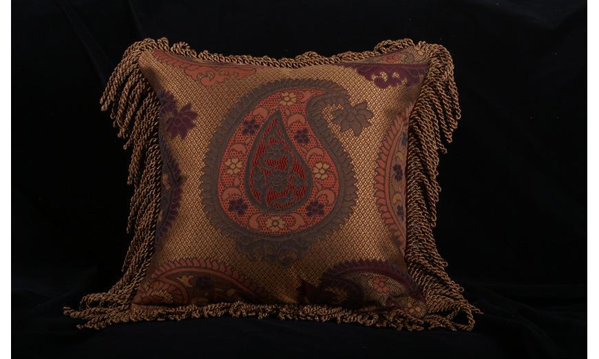 Decorative Pillow Designs in Designer Fabrics and Trims