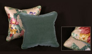 Lee Jofa Linen Print - Floral Decorative Velvet Pillows