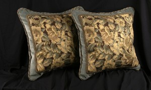 Large Decorate Designer Pillows in Velvet and Tapestry Fabrics