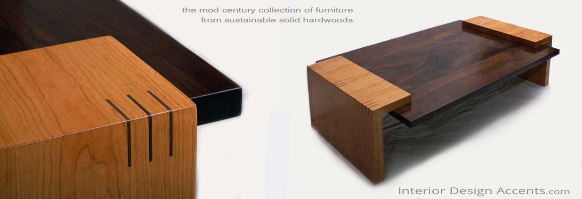 Mod Century Collection of Hardwood Furniture