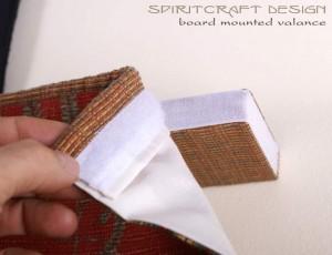 Velcro Board Mounted Valance Window Treatment by Spiritcraft Design