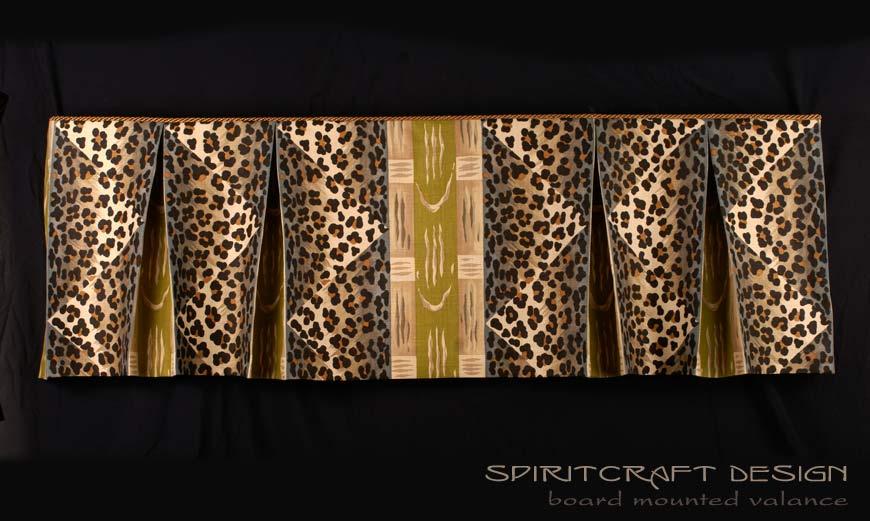 Velcro Board Mounted Pleated Valance Window Treatment by Spiritcraft Design
