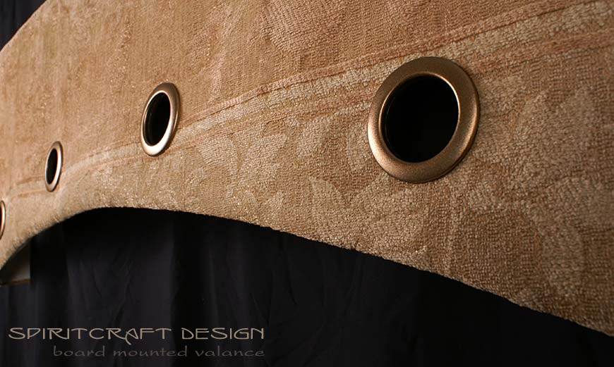 Board Mounted Valance Window Treatment with Grommets by Spiritcraft Design