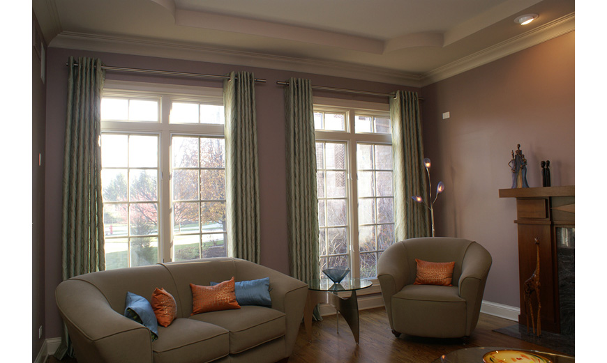 custom made drapery panels, color and interior design services in Dundee, Barrington, IL