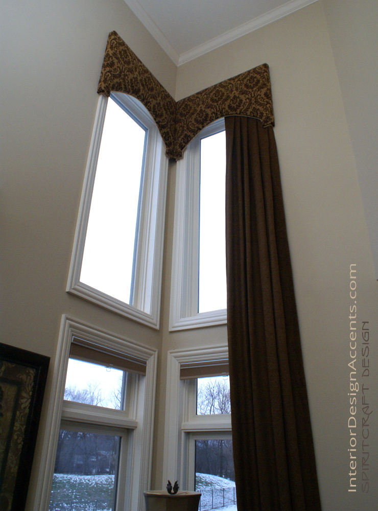 Cornice Window Treatments With Drapery Panels Interior