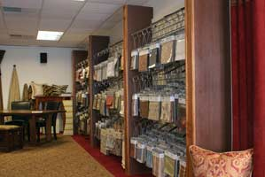 Interior Design Accents Showroom East Dundee, IL Draperies, Fabric Store, Window Treatments and Upholstery fabric workroom