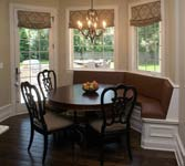 Custom upholstery and banquettes crafted in East Dundee, IL for Naperville, IL client