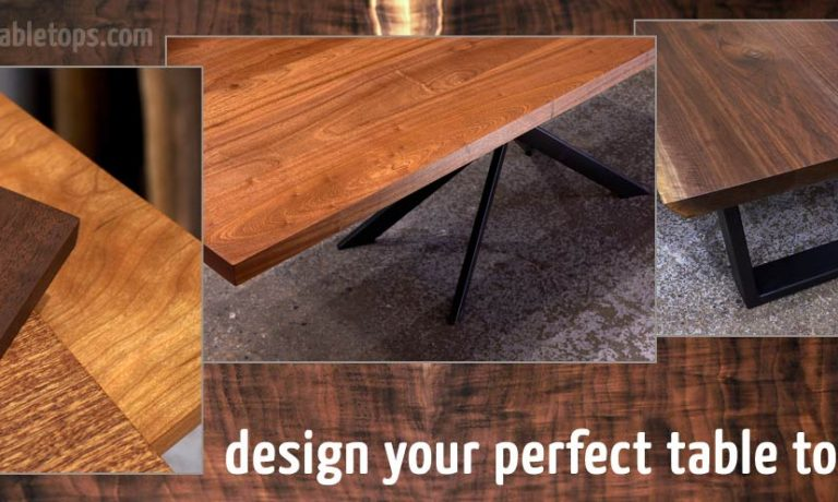 Design your custom solid wood dining or restaurant table top online
