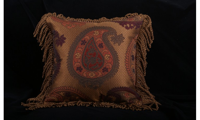 Decorative Pillow Designs in Designer Fabrics and Trims