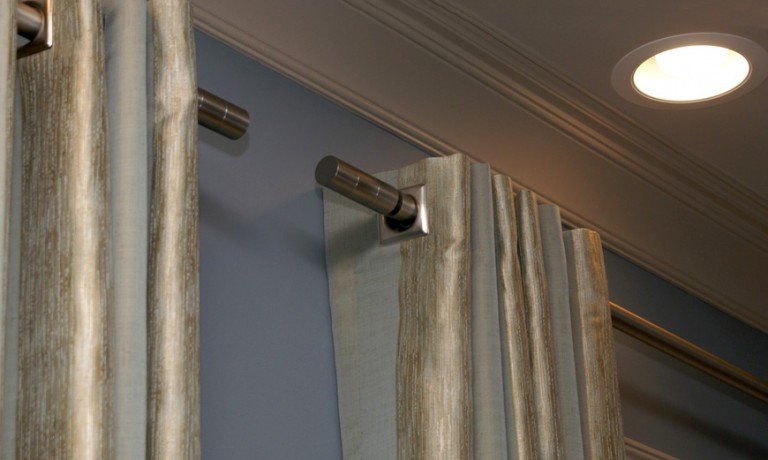 Custom Made Drapery Panels with Grommets and Busche Rods | Burr Ridge, IL